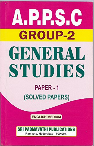 A.P.P.S.C GROUP-2 GENERAL STUDIESPAPER-1 SOLVED PAPERS