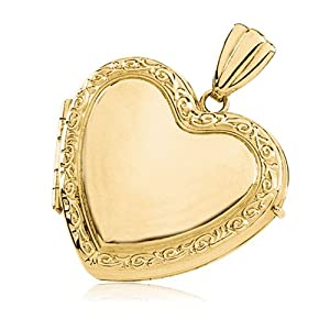 Oval Embossed Locket, 14 Karat Gold