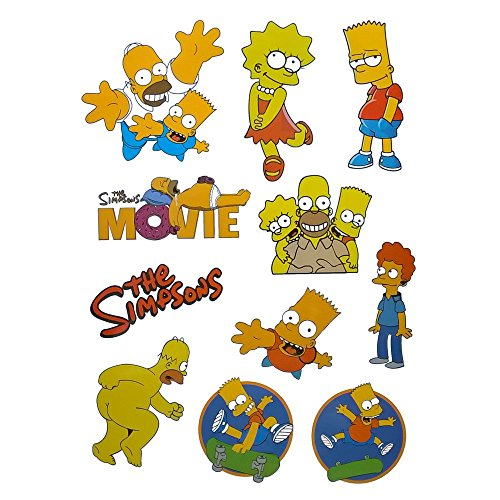 Vooseyhome the Simpsons Cartoom Luggage Skateboard Laptop Car Sticker