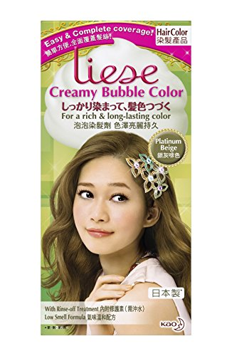 KAO Liese Soft Bubble Hair Color (Platinum Beige) (Liese Platinum Beige compare prices)