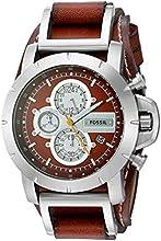Comprar Fossil Trend JR1157 - Reloj cronógrafo de cuarzo para hombre, correa de cuero color marrón (cronómetro)