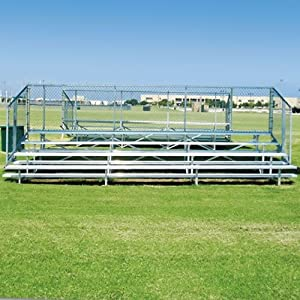 56-Seat, 4-Row Bleachers w Aluminum Framing & Planks from Athletic Connection