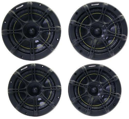 """Package: Kicker 11Ds65 6.5"""" 2 Way Ds Series Pair Of Coaxial Car Speakers + Kicker 11Ds525 5.25"""" 2 Way Ds Series Pair Of Coaxial Car Speakers"""