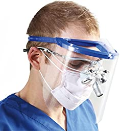 Bio-Mask Face Shield With 10 Shields (Royal Blue)