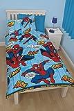New Kids Disney Spiderman Ultimate Thwip Single Rotary Reversible Duvet Set Birthday Christmas Gift