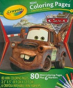 Crayola 04-5056 - Cars - 80 Mini Blätter zum Ausmalen