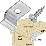 Platte River 879223, Hardware, Table, Assembly Hardware, Table Top Fastenerswith Screws, Package Of 10