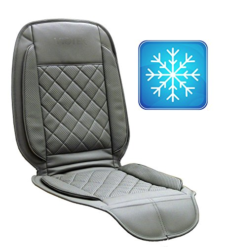 viotek cooled seat cushion featuring tru comfort auto cooling climate control grey. Black Bedroom Furniture Sets. Home Design Ideas