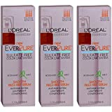 Set of 3 L'Oreal EverPure Smooth Frizz-Free Serum, Rosemary Mint 1.7 Oz