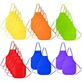 Caydo Set of 20 Assorted Colors Children's Art Smock Artist Fabric Aprons for School, Painting Classroom, Home and Kitchen