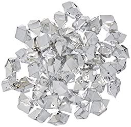 Firefly Imports 50-Piece Acrylic Crystal Ice Rocks Table Scatter, Silver, 1-Inch