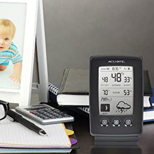 AcuRite 00829 Digital Weather Station with Forecast/Temperature/Clock/Moon Phase by Acu-Rite