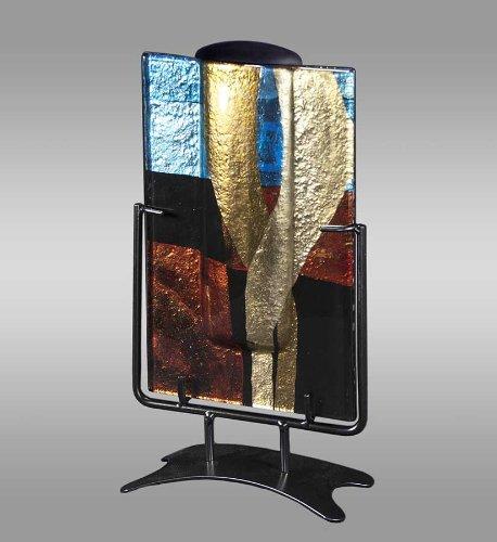 Rectangular Contempo Art Glass Keepsake Cremation Urn