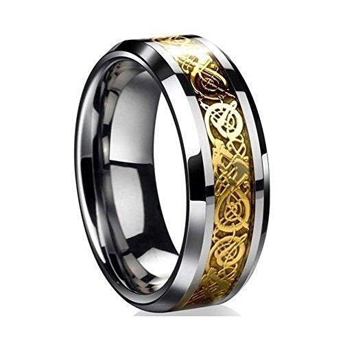 LackingOne(ラッキングワン) ドラゴンデザイン指輪 ステンレス リング 男女兼用 ファッション リング
