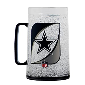 NFL Dallas Cowboys 36-Ounce Crystal Freezer Monster Mug by Duck House