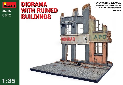 Buy Low Price Dragon Models MiniArt Models 1/35 Ruined Buildings Diorama Base with bonus figure set by Dragon Models (B002WSHV3C)