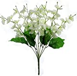 Fourwalls Amazing Artificial Blossom Flower Bunch (7 Branches, White)