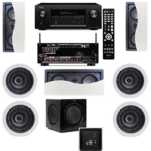 Klipsch R-2502-W Ii In-Wall Speaker (Lcr) (7.1) Denon Avr-X2100W 7.2