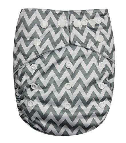 See Diapers Pocket Baby Cloth Diaper 2 Microfiber Inserts Adjustable (G Chevron)
