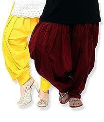 Shiva Collections Women's Cotton Patiala Salwar (scs1030_Multi_Free Size)