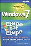 Windows seven : étape par étape