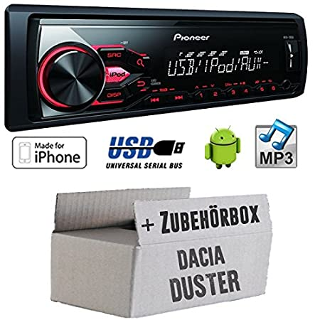 Dacia duster fL-pioneer mVH - 180UI mP3/uSB avec kit de montage