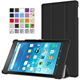 Fire HD 8 2015 Case - MoKo Ultra Slim Lightweight Smart-shell Stand Cover with Auto Wake / Sleep for Amazon Kindle Fire HD 8 Inch Display Tablet (2015 Release Only), BLACK
