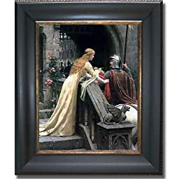 Godspeed by Edmund Leighton Black & Gold Framed Canvas (Ready-to-Hang)