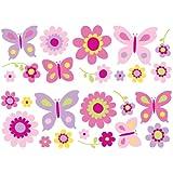 Fun4Walls Wall Stickers, Butterfly Garden Stickarounds