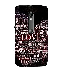 99Sublimation Heart and Passion 3D Hard Polycarbonate Back Case Cover for Motorola Moto G3 :: G 3rd Gen :: G Gen 3 :: G Dual SIM 3rd Gen :: G3 Dual SIM