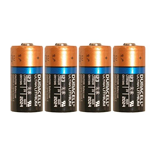 4 Count Duracell Ultra Lithium 3V CR17345 Leak Resistant Long Lasting Batteries