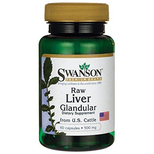 Swanson Raw Liver Glandular 500 mg 60 Caps (Swanson Liquid Liver Extract compare prices)