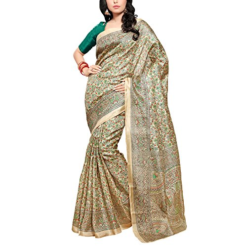 Applecreation-Printed-Khadi-silk-sarees-for-women-party-wear-With-Green-unstitched-blouse-material