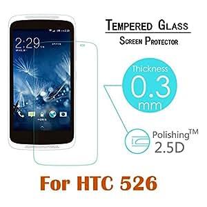 HTC Desire 526G+ dual sim Premium HD Tempered Glass 9H 0.3mm 2.5D Edge Screen Protector Trenzo