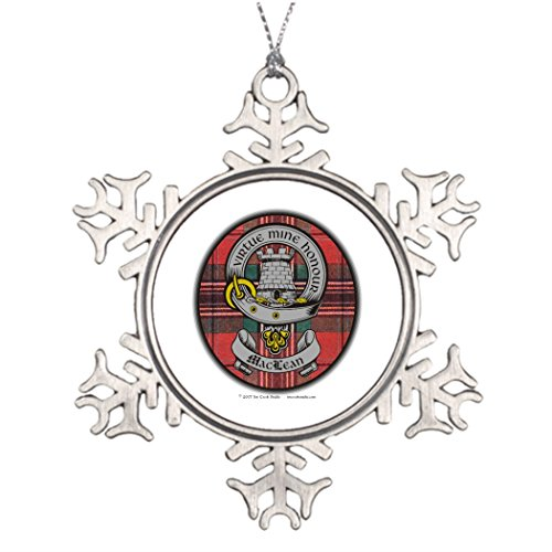 tee-popo-custom-christmas-snowflake-ornaments-clan-maclean-old-badge-tartan-personalised-christmas-t