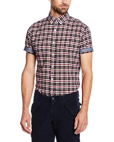 Cortefiel Camisa Hombre Oxford Cuadro Mc T-Relax