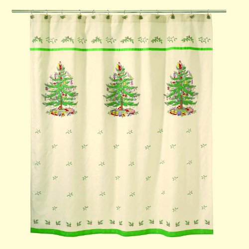 Spode Christmas Tree Fabric Shower Curtain 72x72 Shower Curtains Outlet Shower Curtains Outlet