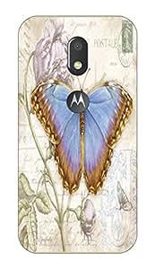 Go Hooked Designer Soft Back cover for Moto E3 Power + Free Mobile Stand (Assorted Design)