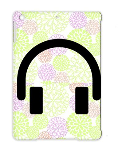 Anti-Scuff Electro Fun Sound Listen Song Shapes Symbol Hearing Hiphop Rock Shape Shapes Symbols Style Headphone Awesome Attitude Rap Ears Dubstep Cool Urban Music Icon Headphones Songs Black Headphones For Ipad Air Cover Case