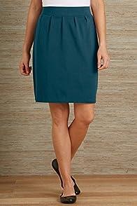 Fair Indigo Organic Fair Trade Pleated Knit Skirt