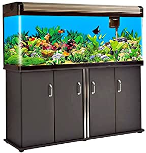 Aquarium 133 gallon 59 inch l frameless all for Fish tank decorations amazon