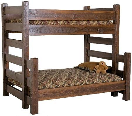 Barnwood Twin over Queen Bunk Bed