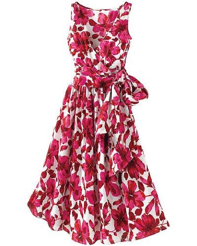 Surplice-wrap cotton dress Newport News