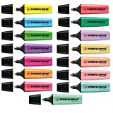 Stabilo Boss Highlighters Original Colors + Pastel Shades Complete Set 15