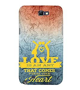 EPICCASE love is an art Mobile Back Case Cover For Samsung Galaxy Note 2 (Designer Case)