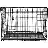 "BTM Folding Metal Dog Crate (30"" M New)"
