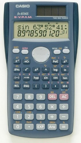 Casio Fx-85ms Scientific Calculator Fx85 2 Line Display Multi Replay 240 FunctionB0001217JA