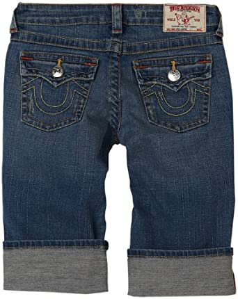 True Religion Girls 7-16 Sophie Roll Up Short, Point Dune Medium, 10