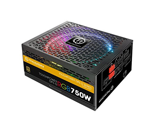 Thermaltake TOUGHPOWER RGB 750W 80+ GOLD Fully Modular Power Supply 10 YR Warranty with 256-colors and Secure Smart Power Management (Thermaltake Modular Cables compare prices)