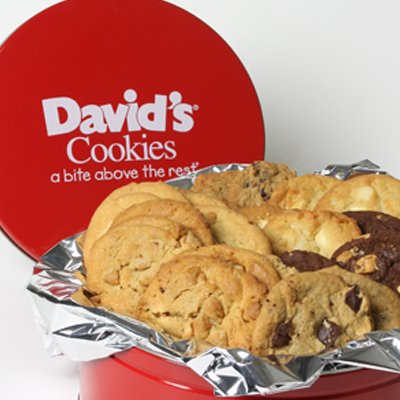 David's Cookies Assorted Fresh Baked Cookies 2lb Tin